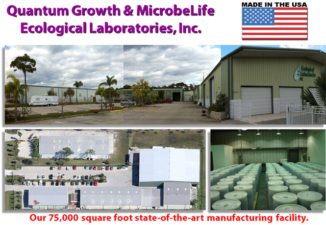 Ecological Laboratories Quantum Growth MicrobeLife Production Facility