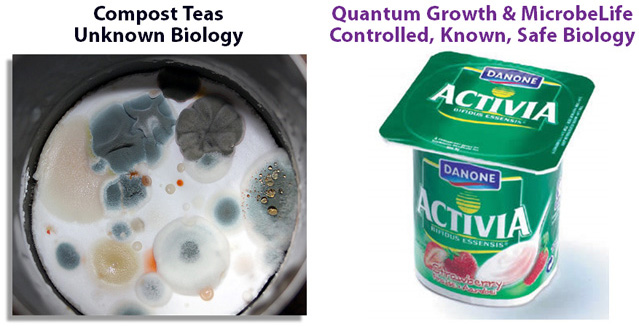 Quantum Growth Versus Unstable Unproven Compost Teas